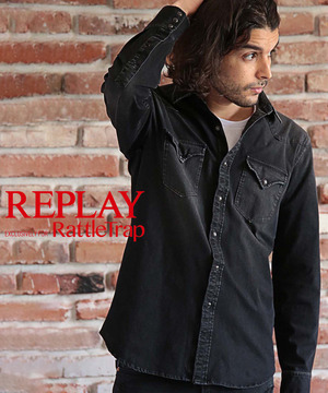 REPLAY×RATTLE TRAP 別注 ウエスタンシャツ