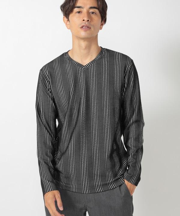 フクレジャガードストライプTシャツ