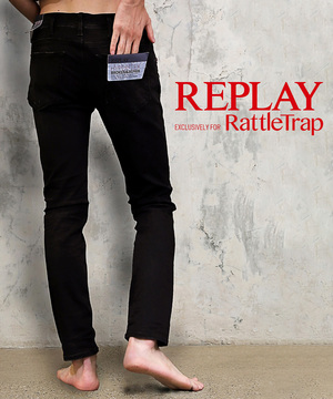 REPLAY×RATTLE TRAP 別注デニム Jondrill Hyperflex bloken&repair